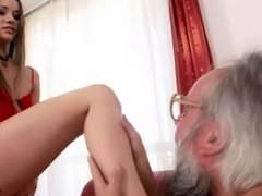 Grandpa and hot Teen enjoying nasty Sex