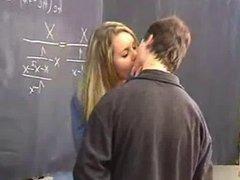 She fucked her Teacher in Classroom