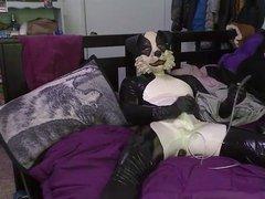 rubber doggy wanking