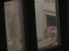 caught window neghbour underwear hot voyeur