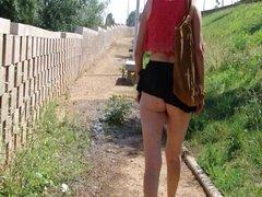 micro skirt no panties p3