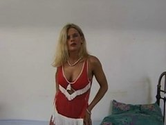 red hose dildo lady