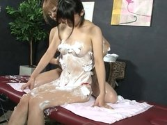 Lesbian Beauty Salon Soapy Body Wash 2 (Censored JAV)
