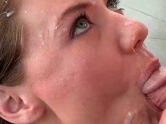 Teen Alison Faye gets huge facial cumshot