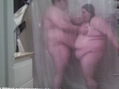 Mark and Mal: Steam Not Snow (Fat couple shower sex)