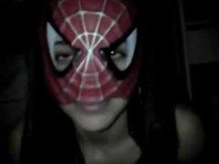 Boquete da novinhas Spidergirl no carnaval