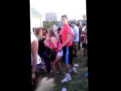Horny chick at concert
