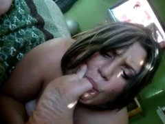 Pierced babe loves cock in her mouth