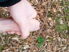Wank in the woods