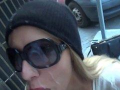 Sperm On Sunglasses In Public