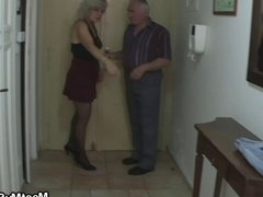 Perverted old couple have fun with teen