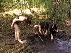 Bikini Girls on Dinosaur Planet Mud scene