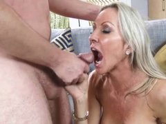 Milf with big boobs Blowjob and Cumshot