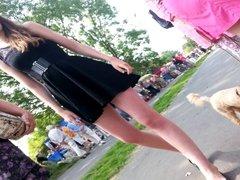 first upskirt black dressed hotti2