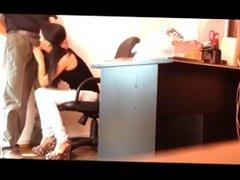 secretary blowjob spy cam
