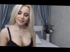 Sexy Blonde Smokes On Cam