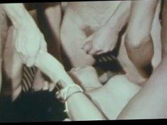The queen Vanessa Del Rio in a gangbang & dp