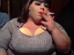 BBW Sissy - Falsies and smoking