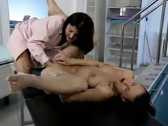 Slutty nurse fisting horny patient