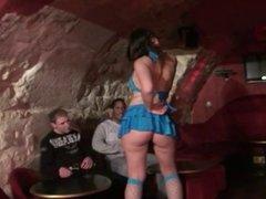 Angela gangbanged in Cupidon club