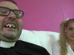 PUTA LOCURA Czech schoolgirl creampied by horny old man