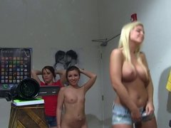 3 sexy girls striptease nude dance webcam style