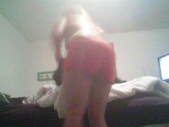 REAL Hidden Cam! Kasey getting naked before bed