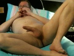 Cumshot Session im Bett