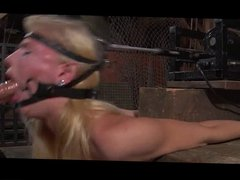 Blonde girl gets face fucked