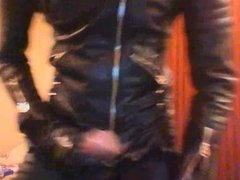Poppered Horny Leather Biker wank