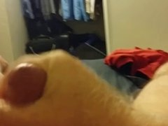 Dad strokes out a load
