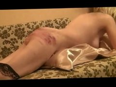 Amateur slave girl gets a brutal caning