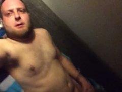 Horny man masturbating (3)