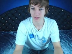 Cute boy wanking on cam