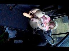 Samantha in her van