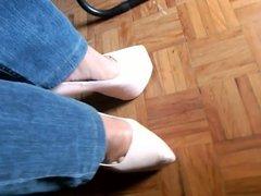 Walking with my suoer high heels!