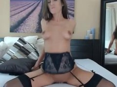 Stunning girl riding her toy