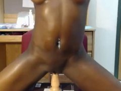Oiled Booty Black Girls With Dildos #2