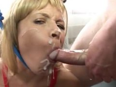 Nice Milf Blond Hard Fuck by Two Masters
