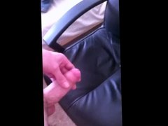 Two New Cumshots on My Leather Chair