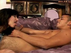 Milf gives a sex lesson for a Young Boy