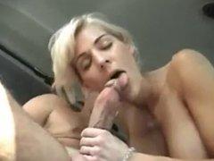 Blonde getting fucked in the van