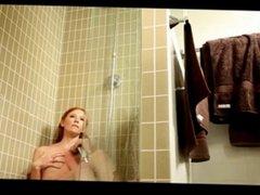 Redhead shower masturbation