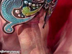 POV Butterfly Mask Blowjob