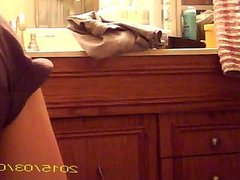 Hidden of Wife getting ready to Shower - Two cams