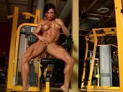 Female body builder in the gym DMvideos