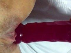 Chinese Singaporean using dildo