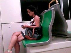 Candid in train-1