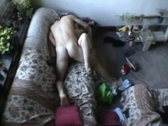 Couple make out and fuckon the couch