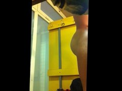 Spying Hot Guy in Swimming Pool Changing Room